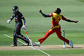 19.02.2015. Nelson, New Zealand.  Solomon Mire from Zimbabwe during the 2015 ICC Cricket World Cup match between Zimbabwe and United Arab Emirates. Saxton Oval, Nelson, New Zealand. Thursday 19 February 2015.