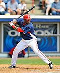 14 March 2008: Washington Nationals' outfielder Elijah Dukes in action during a Spring Training game against the Cleveland Indians at Space Coast Stadium, in Viera, Florida. The Nationals defeated the visiting Indians 8-4 as both teams fielded split squads home and away...Mandatory Photo Credit: Ed Wolfstein Photo