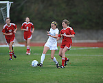 Oxford High vs. Lafayette High's Lizzie Gardner (5) in girls high school soccer in Oxford, Miss. on Saturday, December 8, 2012. Oxford won 1-0.