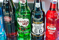 Vintage Soda Bottle Brands, Labels,  Pop and Soft Drinks,1950's, Bubble up, Root Beer 66, Crush