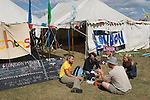 Climate Camp Blackheath south London UK.