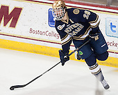 Stephen Johns (ND - 28) - The visiting University of Notre Dame Fighting Irish defeated the Boston College Eagles 7-2 on Friday, March 14, 2014, in the first game of their Hockey East quarterfinals matchup at Kelley Rink in Conte Forum in Chestnut Hill, Massachusetts.