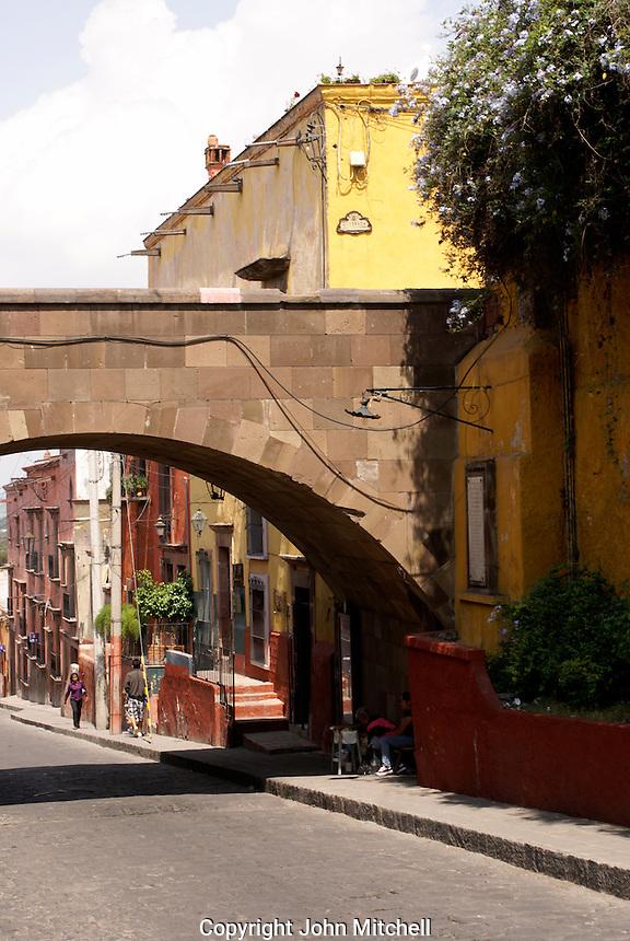 Canal Street in San Miguel de Allende, Mexico