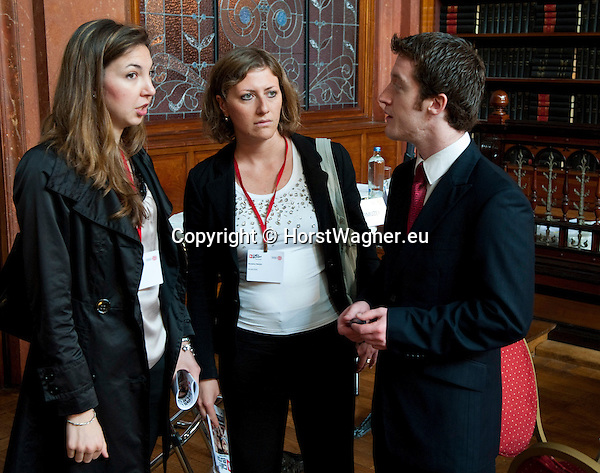 "Brussels-Belgium - June 21, 2012 -- ""Call to Europe II"" - a conference held at the Bibliotheque Solvay by FEPS - Foundation for European Progressive Studies; here, Valerie Vicky MIRANDA (le), Nicoletta PIROZZI (ce) and David KITCHING - FEPS (ri) -- Photo © HorstWagner.eu"