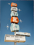 Abandoned hotel sign, Mina, Nev.