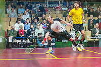 Gregory Gaultier (FRA) vs. Karim Abdel Gawad (EGY) in the second round of the 2014 METROsquash Windy City Open held at the University Club of Chicago in Chicago, IL on February 28, 2014