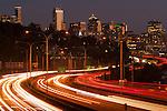 Seattle Skyline with Freeway Traffic