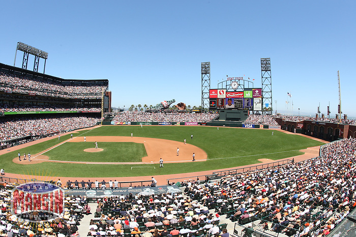 SAN FRANCISCO - June 23:  General overall stadium view of AT&T Park, home of the San Francisco Giants during the game against the New York Yankees in San Francisco, California on June 23, 2007. Photo by Brad Mangin