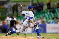 10 March 2009: #43 Damaso Marte of the Dominican Republic pitches against the Netherlands during the 2009 World Baseball Classic Pool D game 5 at Hiram Bithorn Stadium in San Juan, Puerto Rico. The Netherlands pulled off second upset to advance to the secound round. The Netherlands come from behind in the bottom of the 11th inning and beat the Dominican Republic, 2-1.