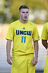 15 September 2015: UNCW's Ben Fisher. The Duke University Blue Devils hosted the University of North Carolina Wilmington Seahawks at Koskinen Stadium in Durham, NC in a 2015 NCAA Division I Men's Soccer match. UNCW won the game 3-0.