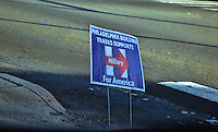 PHILADELPHIA, PA - NOVEMBER 8 : On Election Day, signs pictured in Philadelphia, Pa on November 8, 2016  photo credit Star Shooter/MediaPunch