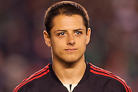 Javier 'Chicharito' Hernandez (14) forward of Mexico national team. The national teams of Mexico and Venezuela played to a 1-1 draw in an International friendly match at  Qualcomm stadium in San Diego, California on  March 29, 2011...