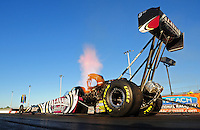 Jan. 19, 2012; Jupiter, FL, USA: NHRA top fuel dragster driver Shawn Langdon during testing at the PRO Winter Warmup at Palm Beach International Raceway. Mandatory Credit: Mark J. Rebilas-