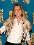 Celine Dion.at the 2004 World Music Awards at Thomas & Mack Arena in Las Vegas 15th September 2004. Photo by Chris Walter/Photofeatures