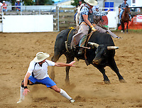 Trans-tasman rodeo at the Waimarino Showgrounds, Raetihi, New Zealand on Sunday, 20 March 2011. Photo: Dave Lintott / lintottphoto.co.nz
