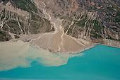 Glacial alluvial fan and glacial silt runoff, Glacier Bay National Park, Alaska, USA
