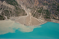 Glacial alluvial fan and glacial silt runoff, Glacier Bay National Park, Alaska, USA