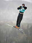16 January 2009: Dylan Ferguson from the USA performs aerial acrobatics during the FIS Freestyle World Cup warm-ups at the Olympic Ski Jumping Facility in Lake Placid, NY, USA. Mandatory Photo Credit: Ed Wolfstein Photo. Contact: Ed Wolfstein, Burlington, Vermont, USA. Telephone 802-864-8334. e-mail: ed@wolfstein.net