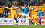 St Johnstone v Motherwell.....19.05.13      SPL.Nigel Hasselbaink is tackled by Steven Hammell.Picture by Graeme Hart..Copyright Perthshire Picture Agency.Tel: 01738 623350  Mobile: 07990 594431
