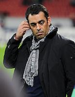 FUSSBALL   CHAMPIONS LEAGUE   SAISON 2011/2012  Bayer 04 Leverkusen - FC Valencia           19.10.2011 Trainer Robin DUTT (re, Leverkusen)
