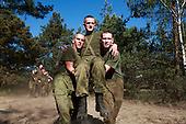 The last draft. Young Polish soldiers exercising at the range. Rembertow, Poland, May 2008<br /> (Photo by Piotr Malecki / Napo Images)<br /> <br /> Ostatni pobor.Rozgrzewka na poligonie. Rembertow.5/2008<br /> Fot: Piotr Malecki / Napo Images