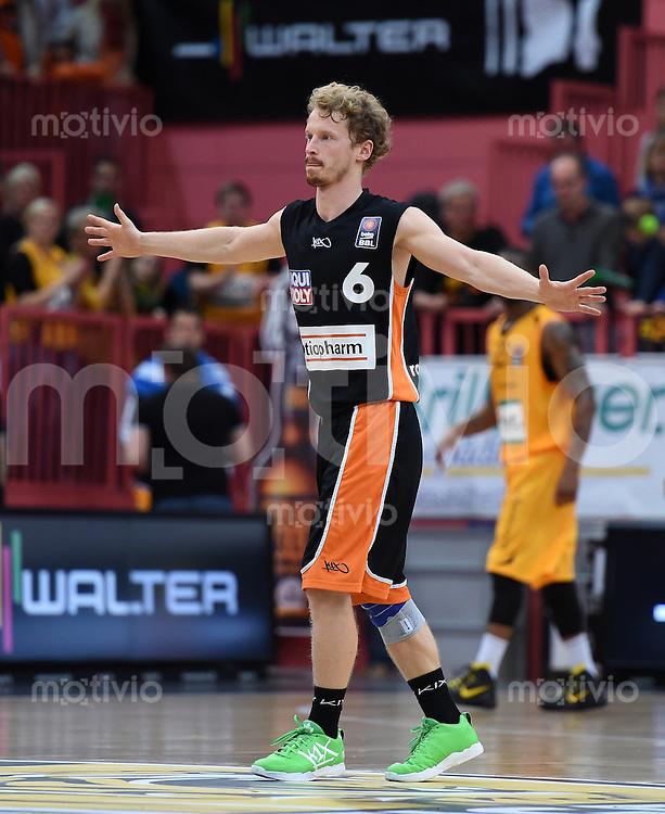 BEKO Basketball 1. Bundesliga 2014/2015  8. Spieltag Walter Tigers Tuebingen - ratiopharm Ulm        09.11.2014 Per Guenther (Ulm)