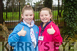 RTE's Operation Transformation filmed Tralee Town Park Junior park run on Sunday. Pictured Amy and Orla Stack Leane