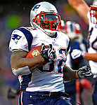28 December 2008: New England Patriots' running back LaMont Jordan scores a touchdown in the third quarter against the Buffalo Bills at Ralph Wilson Stadium in Orchard Park, NY. The Patriots kept their playoff hopes alive defeating the Bills 13-0 in their 16th win against Buffalo of their past 17 meetings. ***** Editorial Use Only ******..Mandatory Photo Credit: Ed Wolfstein Photo