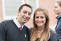 Sargis Ohanyan, left, Erin Pichiotino. Class of 2017 White Coat Ceremony.