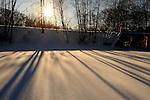 Snow, cross country skiing, and ice fishing on Pocantico Lake, Sleepy Hollow.