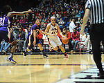 Ole MIss' Gracie Frizzell (12) vs. Northwestern State' Janelle Perez (13) in women's college basketball action in Oxford, Miss. on Friday, November 16, 2012.