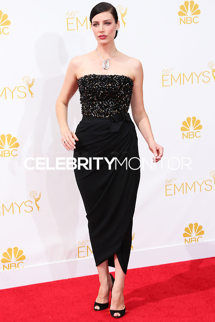 LOS ANGELES, CA, USA - AUGUST 25: Actress Jessica Pare arrives at the 66th Annual Primetime Emmy Awards held at Nokia Theatre L.A. Live on August 25, 2014 in Los Angeles, California, United States. (Photo by Celebrity Monitor)