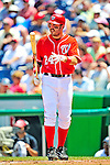 7 June 2009: Washington Nationals' first baseman Nick Johnson in action against the New York Mets at Nationals Park in Washington, DC. The Mets shut out the Nationals 7-0 to take the third game of the weekend series. Mandatory Credit: Ed Wolfstein Photo