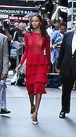 NEW YORK, NY-July 18: Zoe Saldana at Good Morning America to talk about  Star Trek Beyond in New York. NY July 18, 2016. Credit:RW/MediaPunch