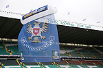 St Johnstone v Dundee United....17.05.14   William Hill Scottish Cup Final<br /> A giant St Johnstone flag at Celtic Park<br /> Picture by Graeme Hart.<br /> Copyright Perthshire Picture Agency<br /> Tel: 01738 623350  Mobile: 07990 594431