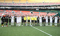 Teams of D.C. United and Portsmouth FC during an international friendly match at RFK Stadium on July 24 2010, in Washington D.C.
