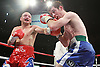 Gavin Rees (red, blue shorts) beats Andy Murray (blue shorts) for the European lightweight title at the Motorpoint Arena, Cardiff, promoted by Matchroom Sports - 04/06/11 - MANDATORY CREDIT: Chris Royle/TGSPHOTO - Self billing applies where appropriate - 0845 094 6026 - contact@tgsphoto.co.uk - NO UNPAID USE..
