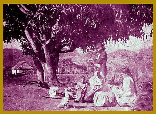 El padre y las hermanas de Sil Adrover en José de Ocoa, 1893