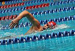 24 MAR 2012:  Allen Weik of Denison University swims in the finals of the Men's 1650 Yard Freestyle during the Division III swimming and diving national championships at the IU Natatorium in Indianapolis, IN. Weik won with a time of 15:04.85. Michael Hickey/NCAA Photos