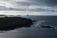 View of rugged Atlantic coast, Garenin, Isle of Lewis, Scotland