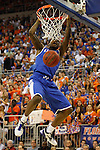 UK freshman guard Archie Goodwin dunks the ball during the first half of the University of Kentucky vs. University of Florida men's basketball game at the O'Connell Center in Gainesville, Fl., on Tuesday, February 12, 2013. UK lost 69-52. Photo by Tessa Lighty | Staff