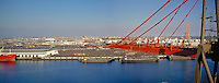 Long Beach, CA,  Harbor, Gantry Crane, Port of Los Angeles, Panorama CGI Backgrounds, ,Beautiful Background