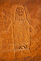 """Ute petroglyph , Utah, Proposed BLM Wilderness, Basketmaker Culture cliff dwellings  """"The Ute Witch""""  Ancient Indian rock art"""