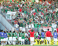 Mexico team salute their fans at the end of the game against Iran. Mexico defeated Iran 3-1 during a World Cup Group D match at Franken-Stadion, Nuremberg, Germany on Sunday June 11, 2006.