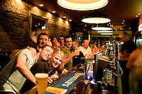 Young people at the 21 degree North Bar on Queens Gate Street in the quaint town of Inverness Scotland in the Highlands home of the Loch Ness Monster