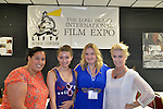 Bellmore, New York, United States. July 10, 2015. L-R, COURTNEY CORDEN; BIANCA HARLACHER; DONNA MCKENNA the Casting Director and a Producer of LEAVES OF THE TREE; and her Manager LAURA SIEGEL of Creative Entertainment Connections, pose at the Official Opening Night Reception of LIIFE, Long Island International Film Expo. LEAVES OF THE TREE is a film about a dying man's journey to discover the secret of a mystical tree's medicinal leaves. LIIFE events, including screenings at Bellmore Movies, panels, and ceremonies, span from July 8 through July 16.