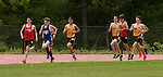 LITCHFIELD,  CT-052017JS09- Runners compete in the 1600M run during the Berkshire League Outdoor Track and Field Championships Saturday at the Plumb Hill Sports Complex in Litchfield. <br /> Jim Shannon Republican-American
