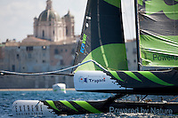 23rd September  2010. Trapani. Italy.Pictures of the Ecover EX40 catamaran d by Mike Golding (GBR). Shown here in action during  the media day.The 2010 Extreme 40 European Sailing Series..Mandatory credit: Lloyd Images