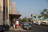 East Austin is home to Austin's thriving new bars and bodegas, coffee and consignment shops, food trucks and fitness centers - Stock Image