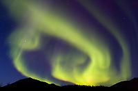 Aurora borealis over the Brooks Range, Arctic, Alaska